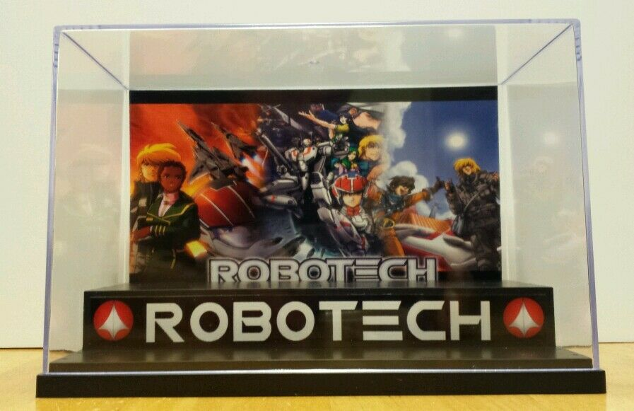 ROBOTECH logo Display Stand Style Diorama Case for action figures- case only