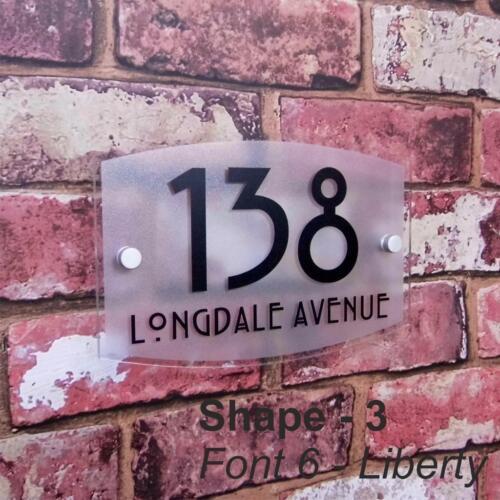 Numéro de maison personnalisé signe plaque nom adresse plaque plaque givré