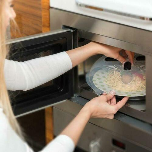 Microwave Anti-Sputtering Cover Food Splatter Guard Magnetic With Steam Vents