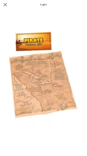 NEW TREASURE MAP PIRATE TOY PROP FANCY DRESS PIRATE COSTUME PARTY ACCESSORY