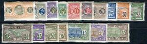 ST PIERRE et MIQUELON 1909 Yvert 78-93 * SCHÖNER SATZ 17 WERTE(F4029