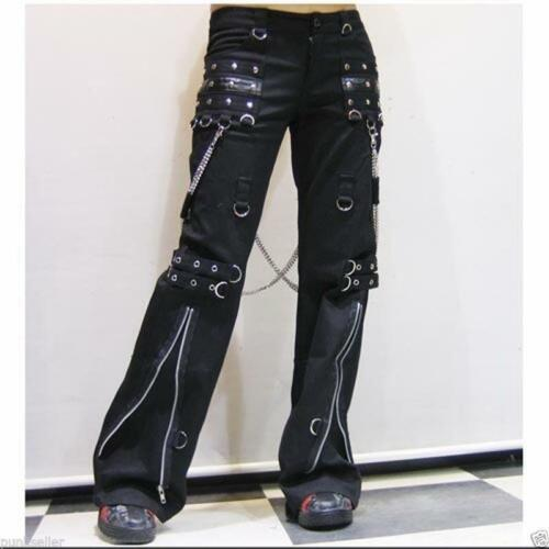 womens mens harem pants Trousers hip hop chain Visual Kei Rock smart punk pants
