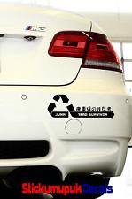 Junk Yard Survivor JDM Car Sticker for Honda / Subaru etc Vinyl Decal 15colours