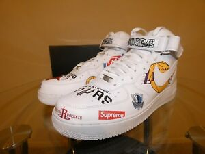 Details about SUPREME x NBA x Nike AIR FORCE 1 MID '07 Size 10.5 AQ8017-100  DS SS18