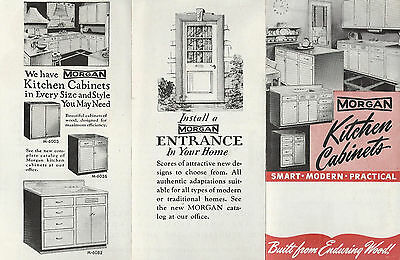 Wood Kitchen Cabinets Morgan Co Oshkosh Wisconsin Vintage Brochure Ebay