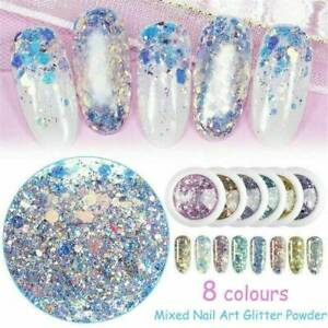 Holographic-Nail-Art-Glitter-Powder-Dust-UV-Gel-Acrylic-Sequins-Decoration-Tips