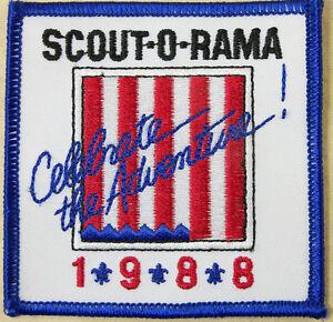 Scout-o-Rama-1988-Celebrate-the-Adventure-Patch-Emblem-Travel-Souvenir-Badge