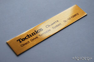 TECHNICS SL-1210 MK2 Turntable Plaque / Logo / Decal [GOLD] (HIGH QUALITY)