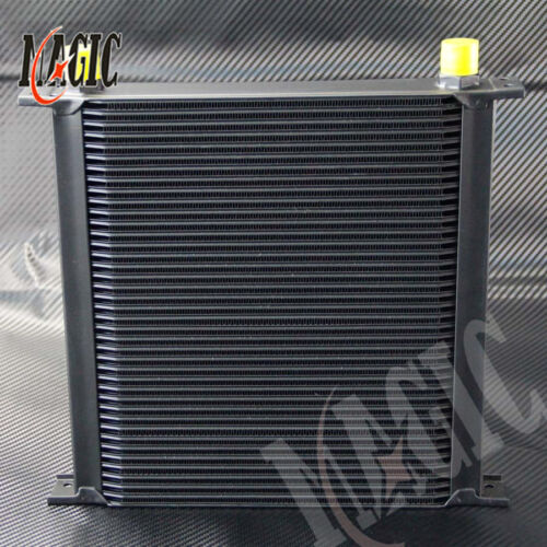 AN10 40 Row Aluminum Engine /& Transmission Oil Cooler Black