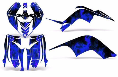 Yamaha Raptor 90 Decal Graphic Kit Quad ATV Decal Wrap Racing Parts 09-15 ICE U