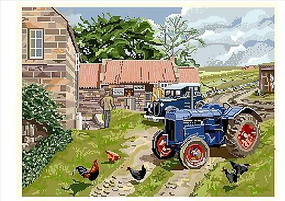tractor cross stitch kit 14s Fordson Super Dexta Field Marshall Fordson Major
