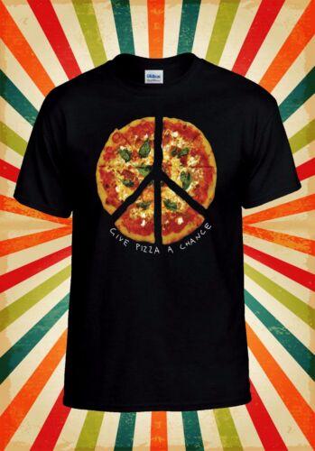 Give Pizza A Chance World Peace Love Men Women Vest Tank Top Unisex T Shirt 830