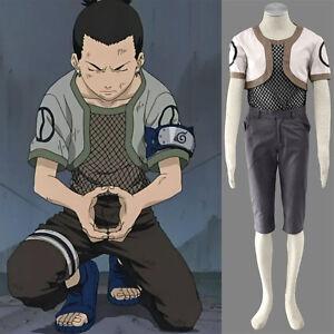 Details about Nara Shikamaru Cartoon Character Costumes Naruto Ninja  Cosplay Costume Any Size
