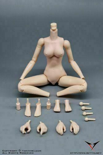 "1//6 Scale Female Pale Flexible Body Model PVC Doll for 12/"" Woman Action Figure"