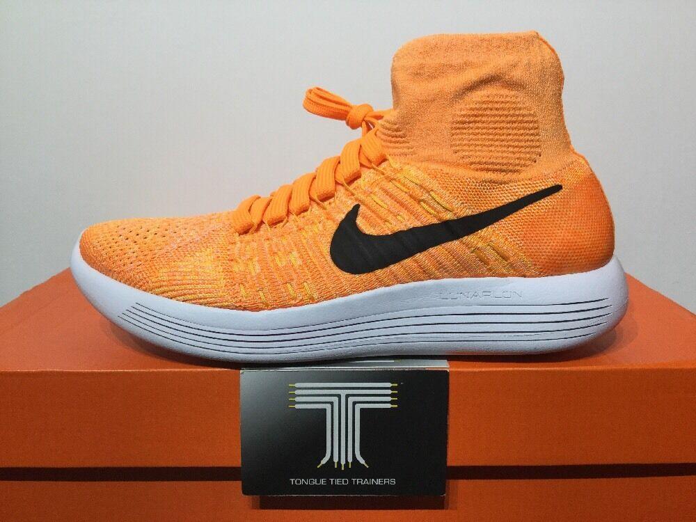 Nike Lunarepic Flyknit  Laser Orange  818677 801  Uk Gr  e 4.5