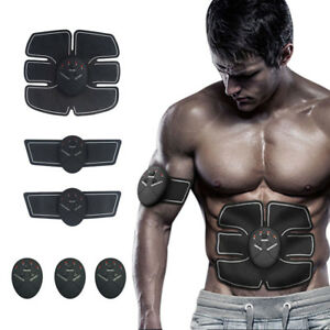 EMS Abs Remote Control Abdominal Muscle Trainer Smart Body Building Fitness Lot