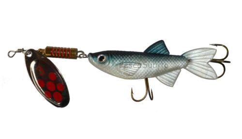 pesci con cucchiaino da pesca 13.5cm spinning trota lago luccio artificiali