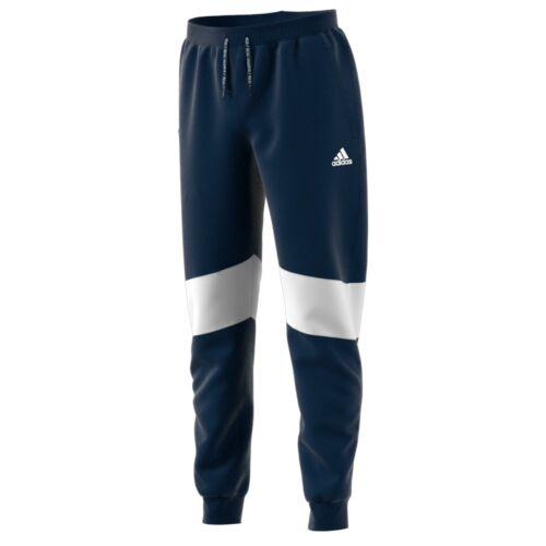 ADIDAS Bambini Ufficiale Real Madrid Calcio Sudore Pantaloni Pantaloni Bottoms Navy