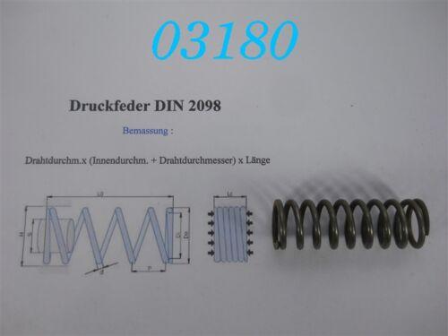 MOLLA a compressione DIN 2098 2,5 x 17,5 x 63
