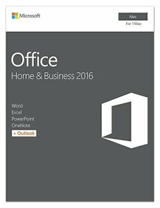 Microsoft Office Home and Business 2016 for Mac  1 user, Mac Key Card 689740374819