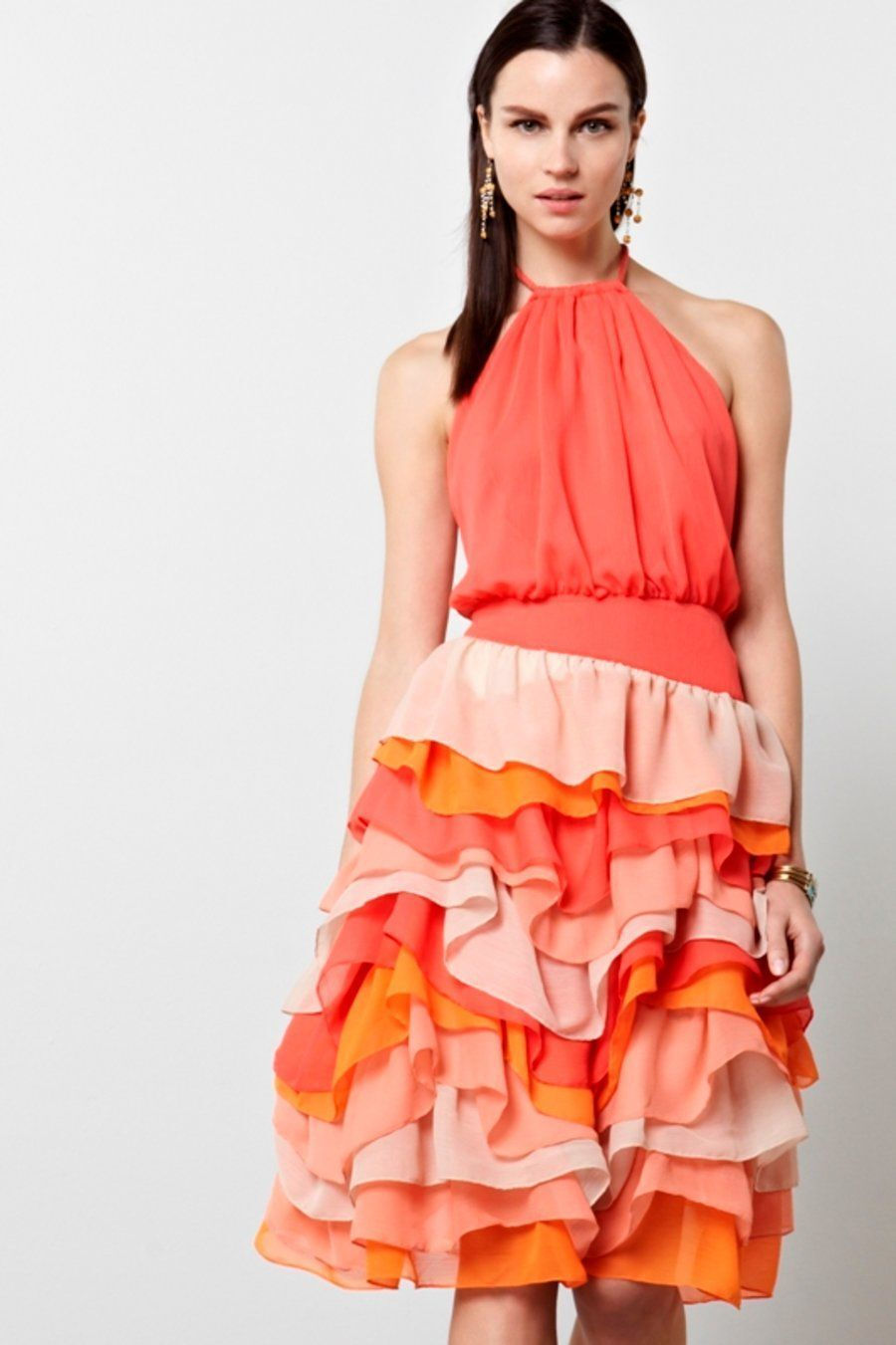 Chris Benz Lilian Halter Ruffled Dress -2- MSRP