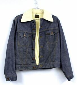 dca845964a Image is loading Vintage-1970S-Sears-Roebuck-Denim-Sherpa-Trucker-Jacket-