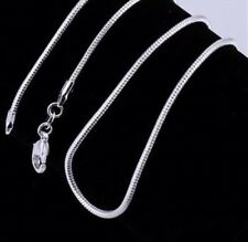 """2 X 24"""" 925 Silver Necklace Snake Chains Brand New Job Lot Bulk Buy Free P&P"""