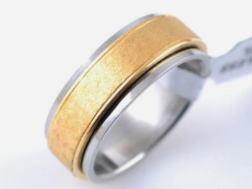 RING WEDDING RING ALLIANCE MAN WOMAN TEENAGER STEEL & GOLDPLATED 18CARAT 553