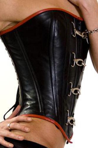 New Very Stylish Black REAL LEATHER corset size 2xs~7xl