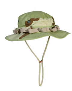 US Army Camo Gi Jungle Hat R/S Boonie Desert Size 3XL Fishing Fisherman's