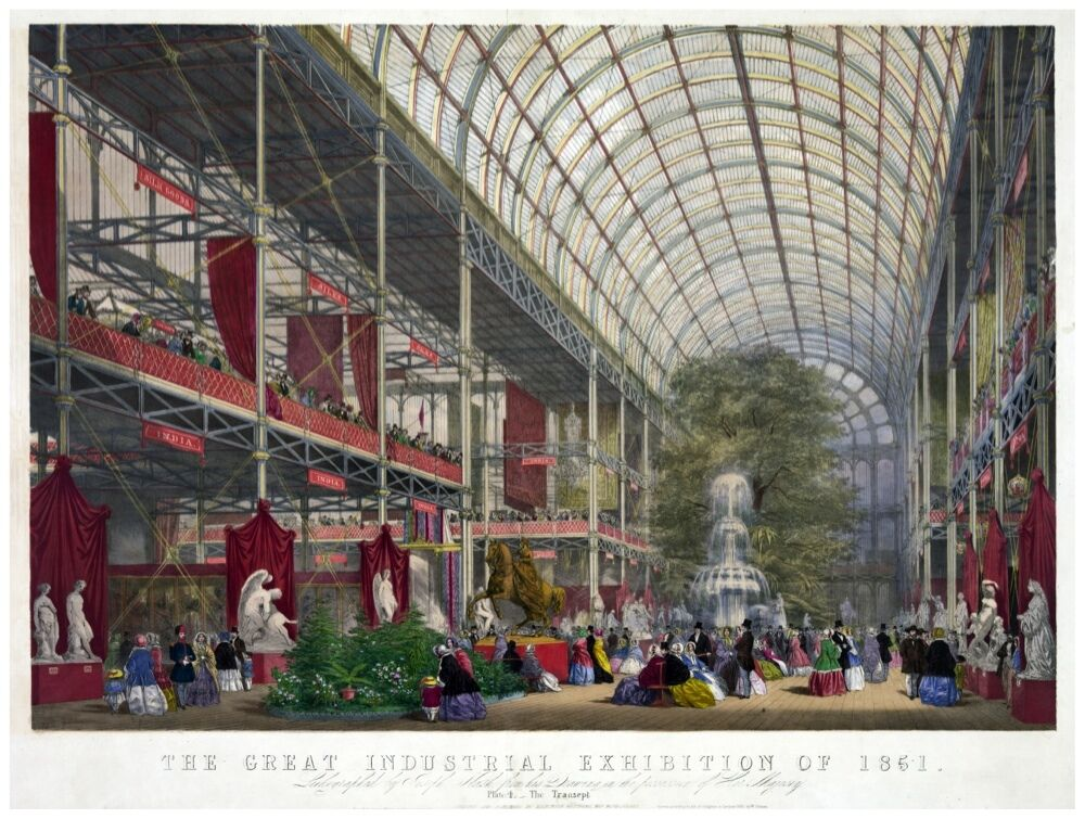 8991.The great industrial exhibition of 1851.POSTER cor Home Office art
