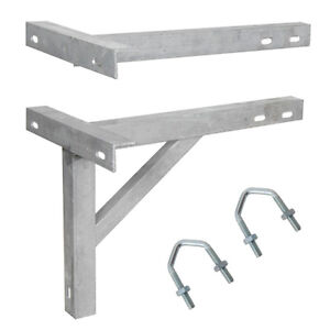 18-T-K-Wall-Mounting-Galvanized-Bracket-V-Bolts-Aerial-Mast-Pole-Install