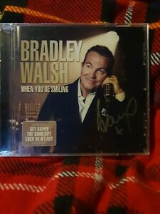 BRADLEY WALSH - WHEN YOU'RE SMILING - signed/autographed 14 track New/ sealed cd