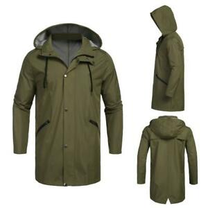 Men-Fashion-Hooded-Long-Sleeve-Solid-Pocket-Rain-Jacket-GDY7