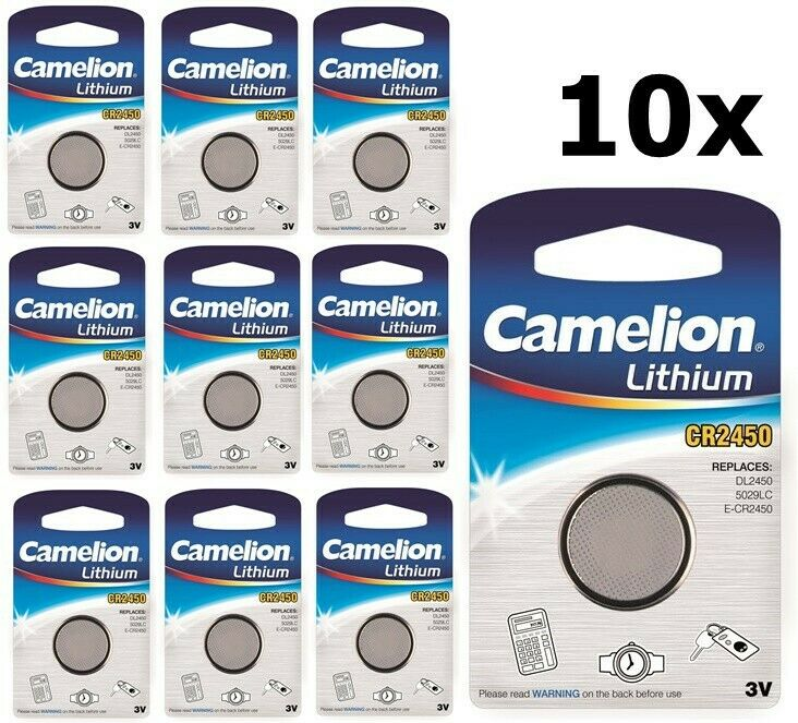 UK BS301-10x Camelion CR2450 3V lithium button cell battery 10 Pieces