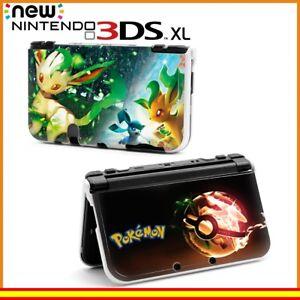 Funda-Protector-Nintendo-New-3DS-XL-Carcasa-Dibujos-Pokemon-Poke-Ball-Leafeon
