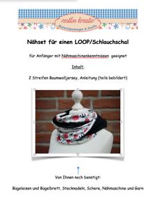 DIY nähset//paquete de tela cultivos marinos jersey-loop coser//nähpaket braga de cuello anclaje