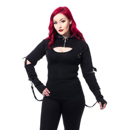 Chemical Black Gothic Steampunk Alternative Womens Holly Bolero//Shrug//Jacket