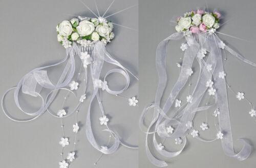 Haargesteck Kopfschmuck Kommunion Blumenmädchen Hochzeit Kommunionschmuck