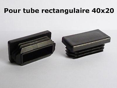 bouchon pour tube rectangulaire 40x15 mm noir plastique Embout bouchons dobturation 1 pcs