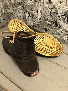 1940 Vintage Old Antique Wilson Basketball Hightop Shoes Mens 8 Tennis Sneakers