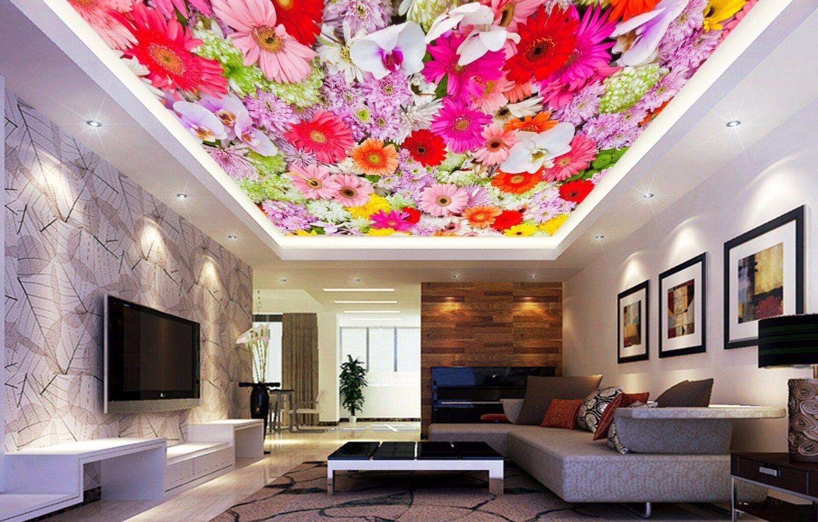 3D Daisy Flower 9 Ceiling WallPaper Murals Wall Print Decal Deco AJ WALLPAPER GB