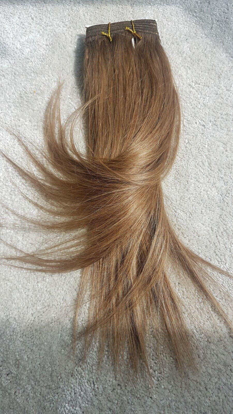 Human Hair Rooting Reborn Babies Toddlers Straight 100g Light braun NOT Mohair