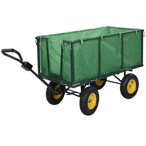 Image Is Loading Large Collapsible Utility Wagon Garden Cart Shopping Buggy