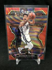 BRANDON-CLARKE-Red-Wave-Prizm-RC-2019-20-Select-Concourse-76-Rookie-TMALL-M65