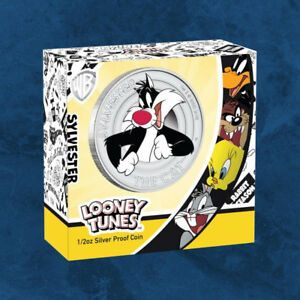 Tuvalu-Looney-Tunes-SYLVESTER-0-5-2018-PP-Silber-Proof