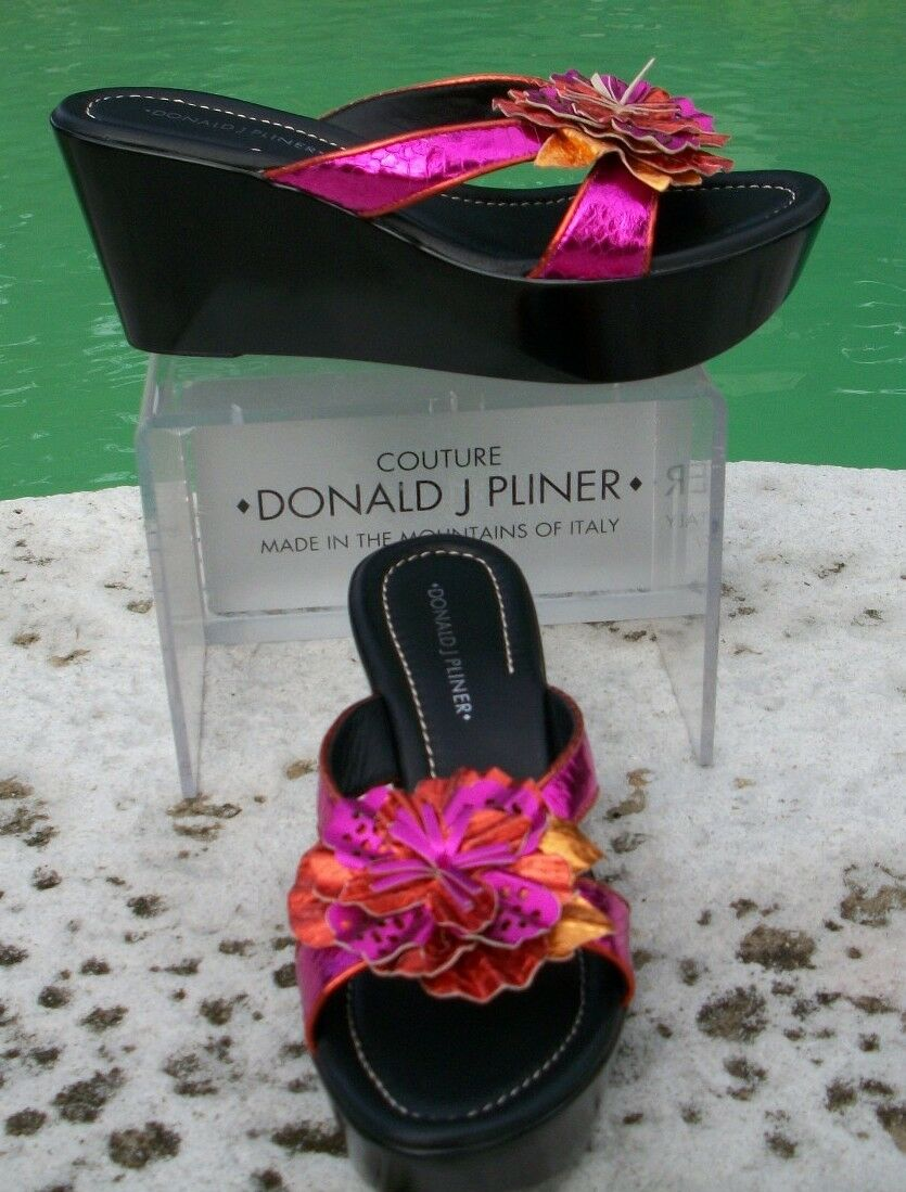 Marvin K Rosa Croc Leather schuhe Sandal New New Sandal 7.5 Suede Foot Bed T Strap  225 NIB dd625c