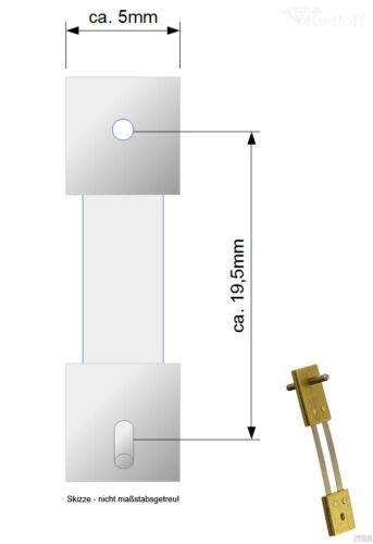 Großuhr Pendelfeder für Pendulen Regulator 19,5mm Stiftabstand 410428