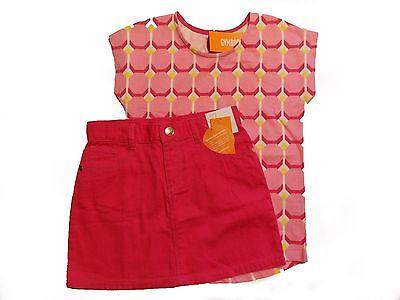 NWT Girl's Gymboree Bright Ideas short sleeve shirt & adjustable pink skirt ~ 6