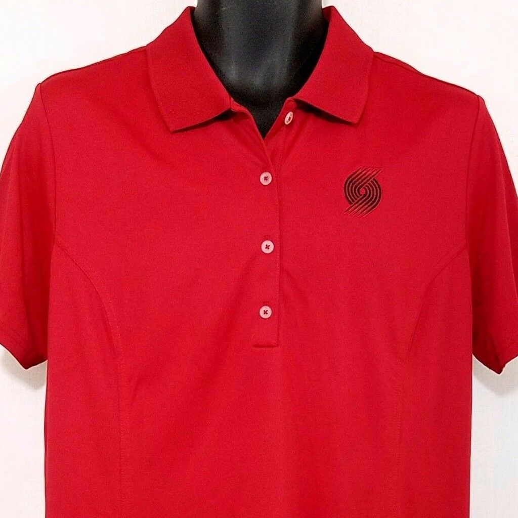 Portland Trail Blazers Adidas Womens Golf Polo PureMotion Rojo Tamaño XL NWOT